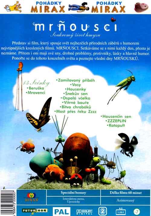 mròousci Soukromý život hmyzu dvd 1