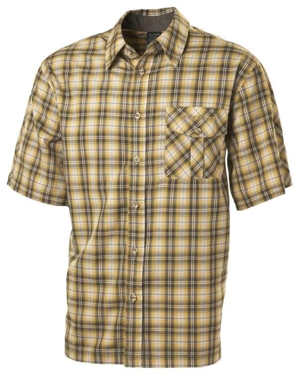 Pánská kostkovaná košile okrová
