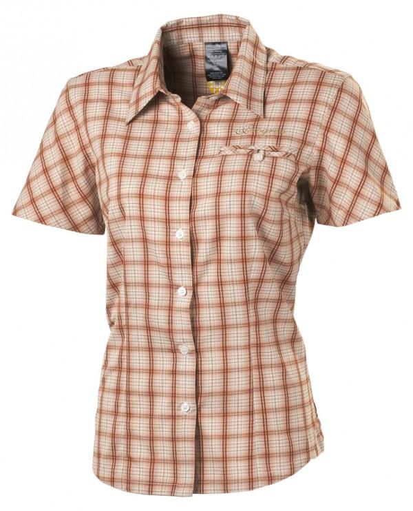 Dámská kostkovaná košile hnìdá